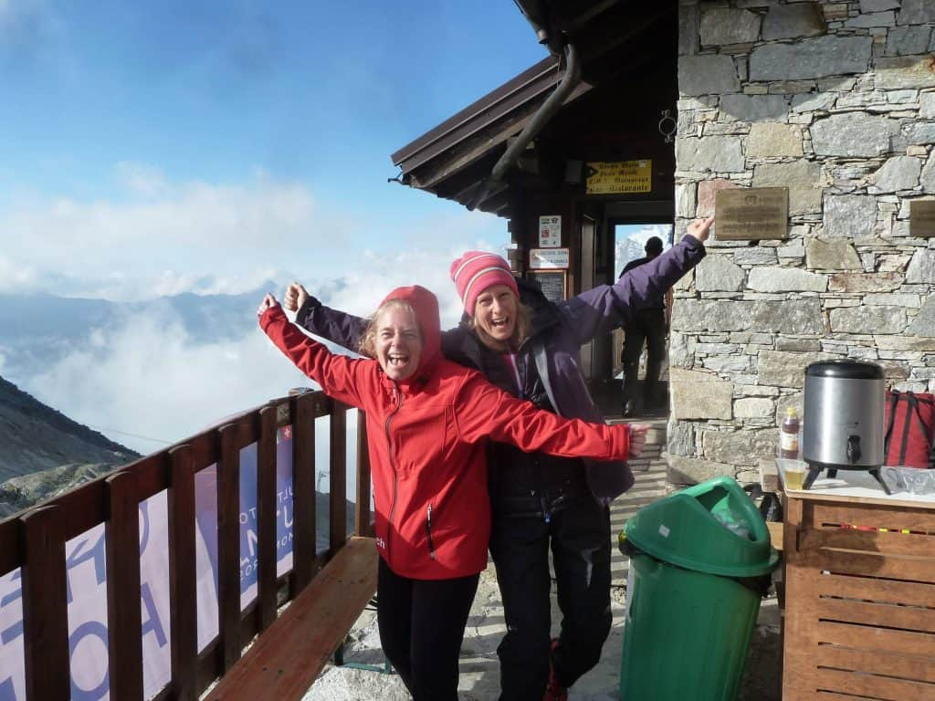 Passionate and supportive volunteers at the Monte Moro Pass in 2015!