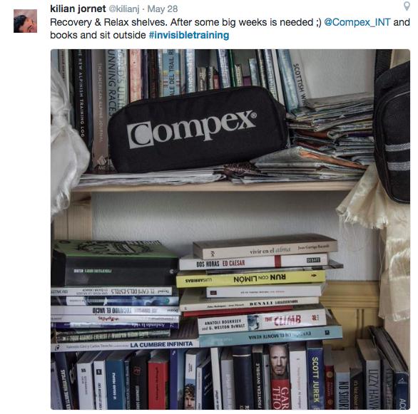 Kilian Jornet's reading shelf!