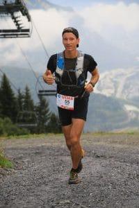Petter Restorp running UTMB