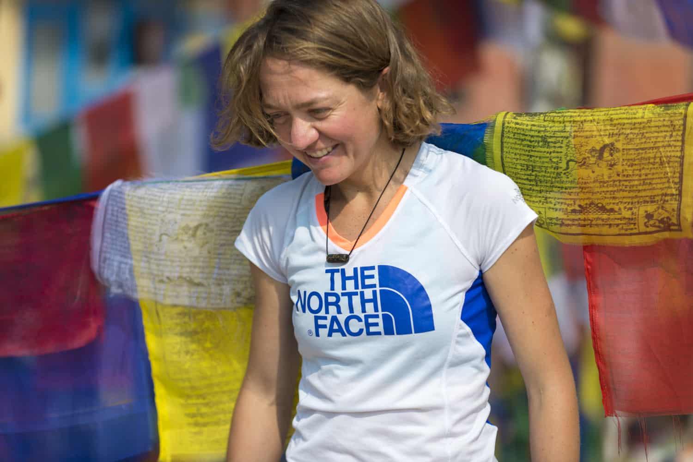Lizzy Hawker in Kathmandu