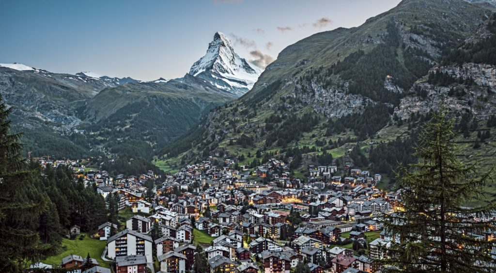 Zermatt town in summer