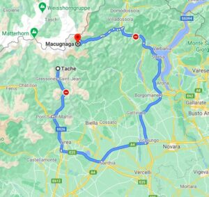 gressoney to macugnaga map