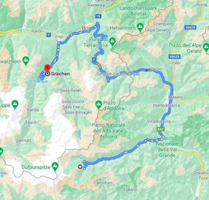 macugnaga to grachen map