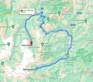 map macugnaga to saas fee